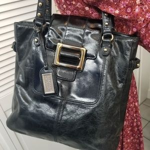 "Badgley Mischka tote. 14"" wide 12"" tall"